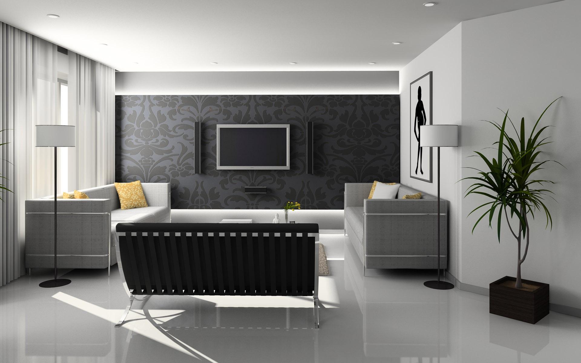 reforma salon con luz en gris